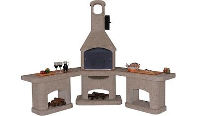 WELLFIRE Grillkamin »Außenküche Nova Quatro«, BxTxH: 188x73x215 cm kaufen
