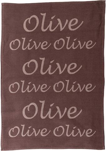 stuco Geschirrtuch »Olive«, (Set, 3 tlg.), Jacquardgewebe kaufen