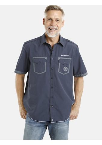 Jan Vanderstorm Kurzarmhemd »LOKE«, Schulterpatten, Comfort Fit kaufen