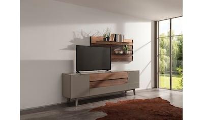 GWINNER TV-Wand »Misano MI109«, (2 tlg.), in Lack fango, mit Wandpaneel, wahlweise mit Beleuchtung kaufen