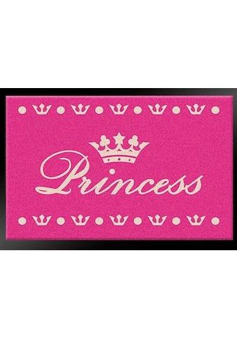 HANSE Home Fußmatte »Princess«, rechteckig, 6 mm Höhe, Schmutzfangmatte, mit Spruch,... kaufen
