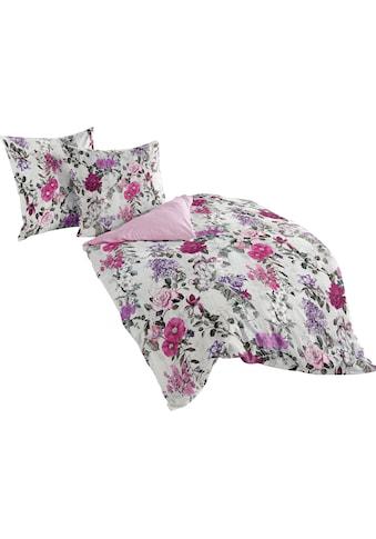 BIERBAUM Wendebettwäsche »Flowers Viola«, mit floralem Muster kaufen