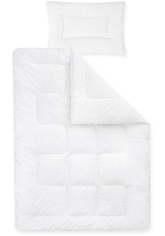 Ganzjahresbettdecke + Kopfkissen, »Basic«, Zöllner, (Spar - Set) kaufen