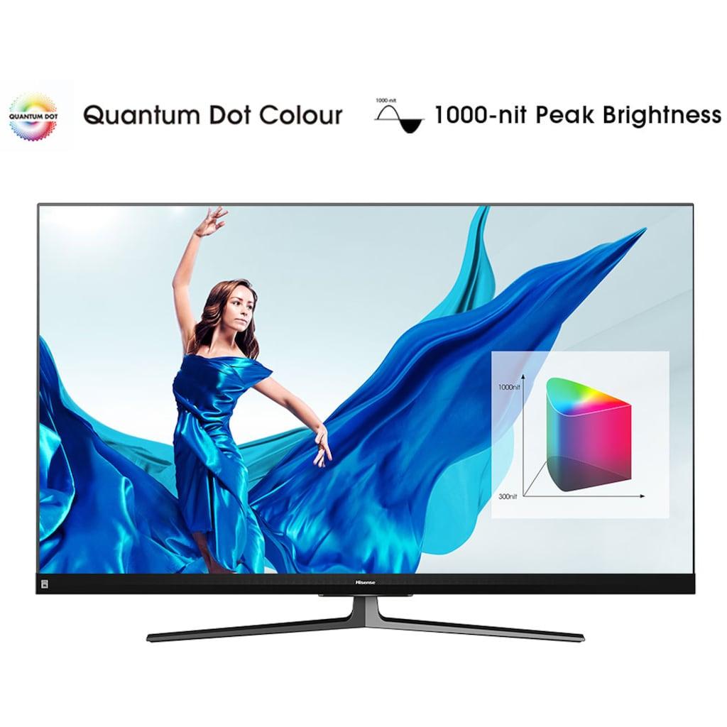 "Hisense QLED-Fernseher »55U8QF«, 139 cm/55 "", 4K Ultra HD, Smart-TV, Quantum Dot Technologie, 120Hz Panel, USB-Recording, JBL sound, Alexa Built-in"