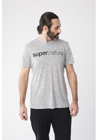 SUPER.NATURAL T-Shirt »M SIGNATURE TEE«, geruchshemmender Merino-Materialmix kaufen