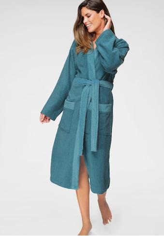 my home Unisex-Bademantel »Kim«, mit dezent farblich abgesetztem Kimonokragen kaufen