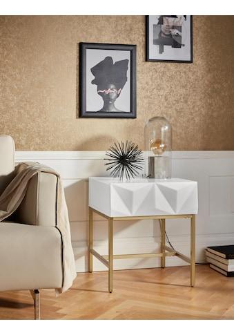 Leonique Beistelltisch »Minfi«, Schublade mit 3D-Front, auch als Nachttisch geeignet,... kaufen