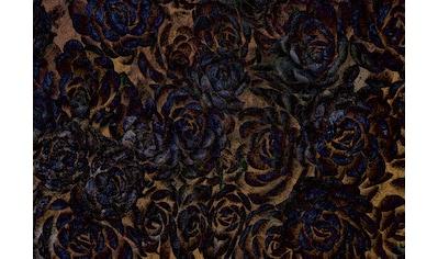 CONSALNET Vliestapete »Dunkle Blumen«, in verschiedenen Größen kaufen