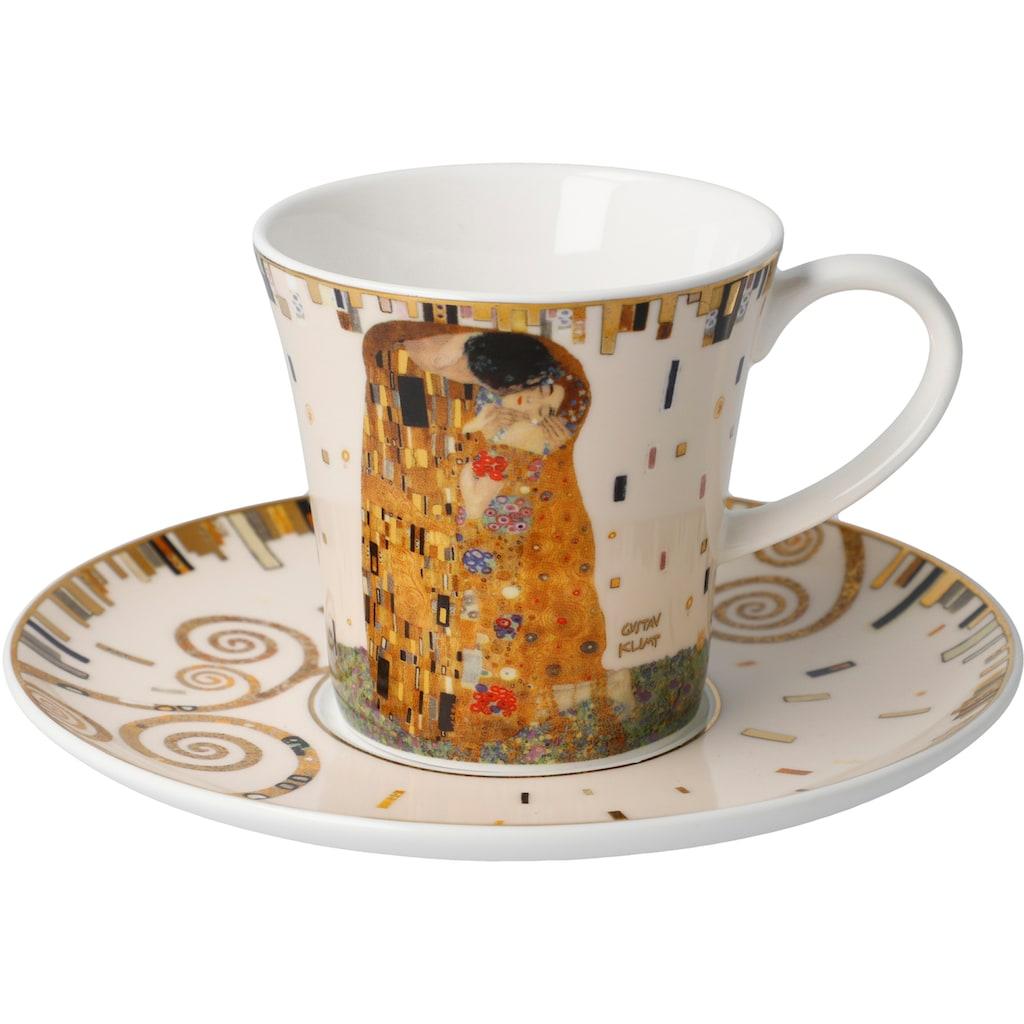 Goebel Becher »Der Kuss«, von Gustav Klimt