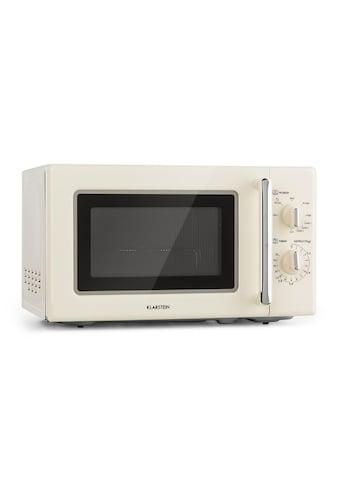 Klarstein Retro Mikrowelle Mikrowellenofen Grill Timer 20l 1000W Ø25,5cm kaufen