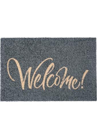 my home Fußmatte »Bente«, rechteckig, 5 mm Höhe, Fussabstreifer, Fussabtreter, Schmutzfangläufer, Schmutzfangmatte, Schmutzfangteppich, Schmutzmatte, Türmatte, Türvorleger mit Spruch, In- und Outdoor geeignet, waschbar kaufen
