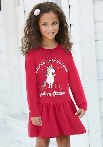 KIDSWORLD Jerseykleid »Einhorn«, mit Sprüchedruck kaufen