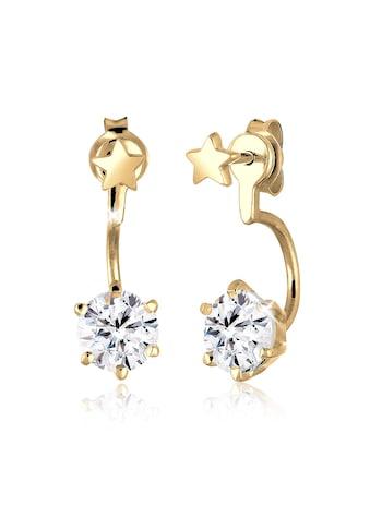 Elli Paar Ohrstecker »Front-Back Sterne Kristalle 925 Silber« kaufen