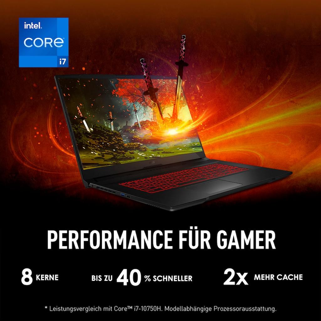 "MSI Gaming-Notebook »GF76 11UD-082«, (43,9 cm/17,3 "" Intel Core i7 GeForce RTX™ 3050 Ti\r\n 1000 GB SSD), Kostenloses Upgrade auf Windows 11, sobald verfügbar"
