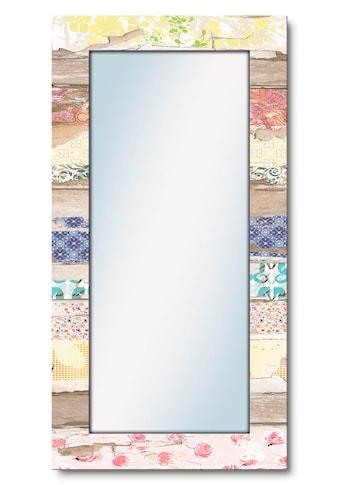 Artland Wandspiegel »Verschiedene Muster auf Holz«, gerahmter Ganzkörperspiegel mit... kaufen