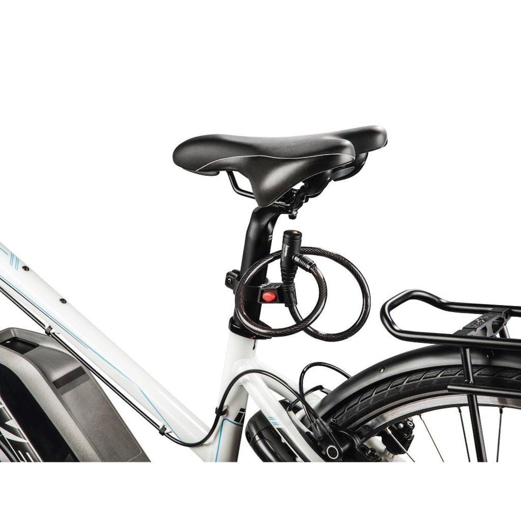 Hama Fahrrad-Kabelschloss Schlüsselschloss, 65 cm, Schwarz
