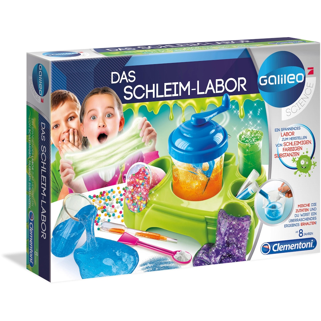 Clementoni® Experimentierkasten »Galileo Das Schleim-Labor«, Made in Europe
