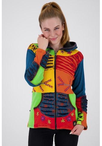 DEPROC Active Fleecejacke »Patchwork Multicolor NUNAVUT II NEW FLOWER POWER« kaufen