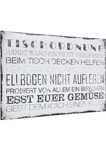 Home affaire Poster »Tischordnung«, in 2 Größen, Poster, Wandbild, Bild, Wandposter kaufen