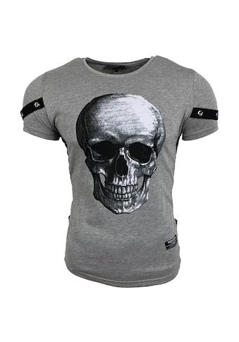 Rusty Neal T-Shirt mit coolem Totenkopf-Druck auf der Front kaufen