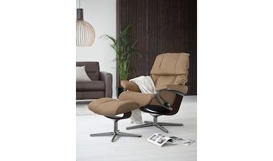 Stressless® Relaxsessel »Reno«, mit Hocker, mit Cross Base, Größe S, M & L, Gestell Braun kaufen