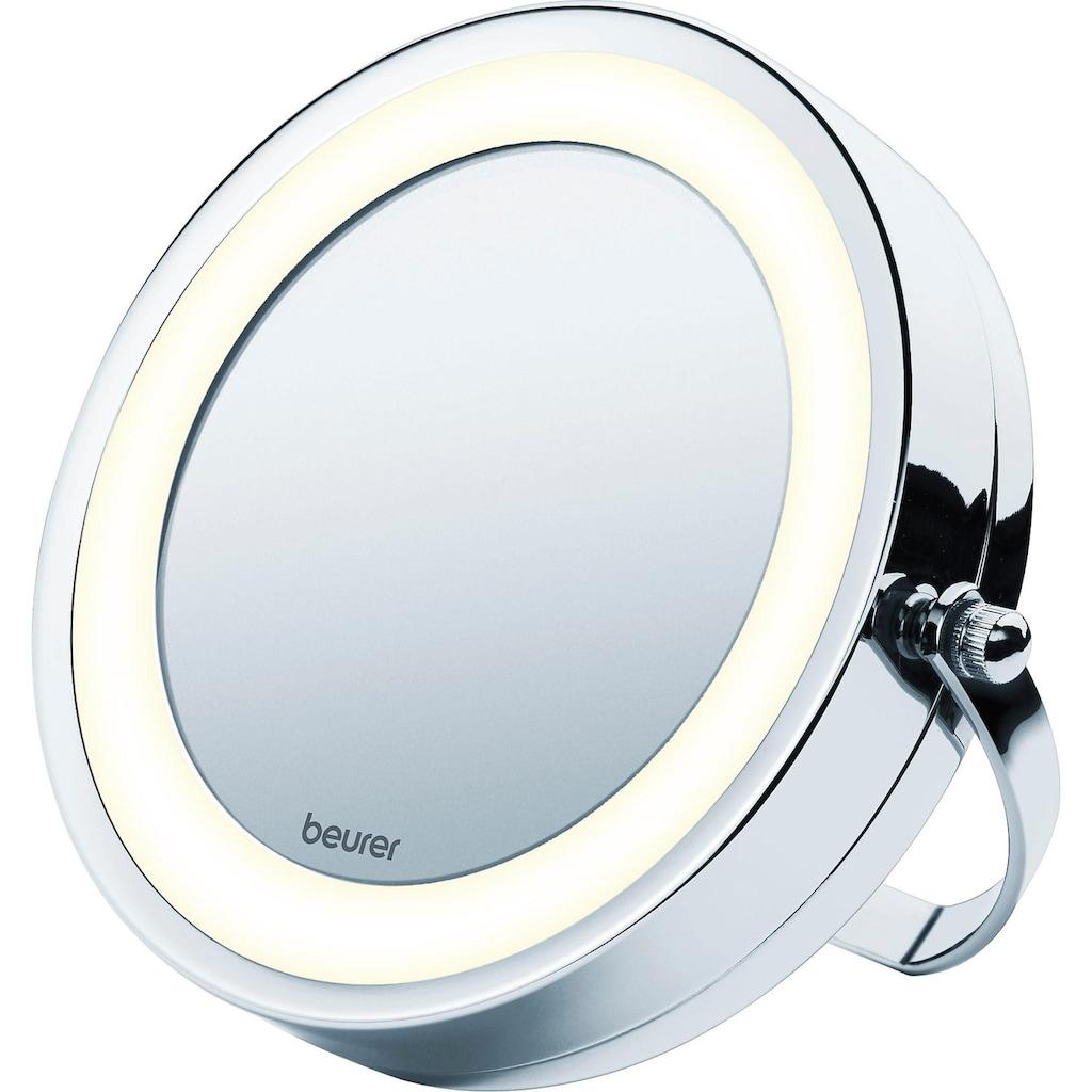 BEURER Kosmetikspiegel »BS 59«, Drehbarer Spiegelfläche und helles LED-Licht