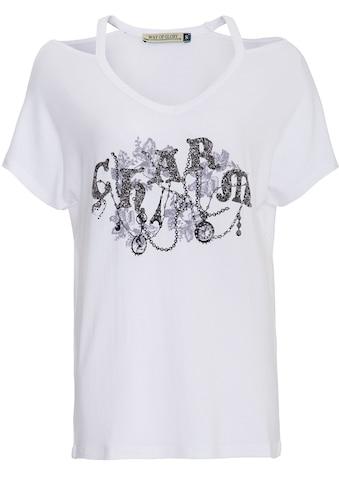 Way of Glory Print-Shirt, mit Front Motiv und Ziersteinen kaufen