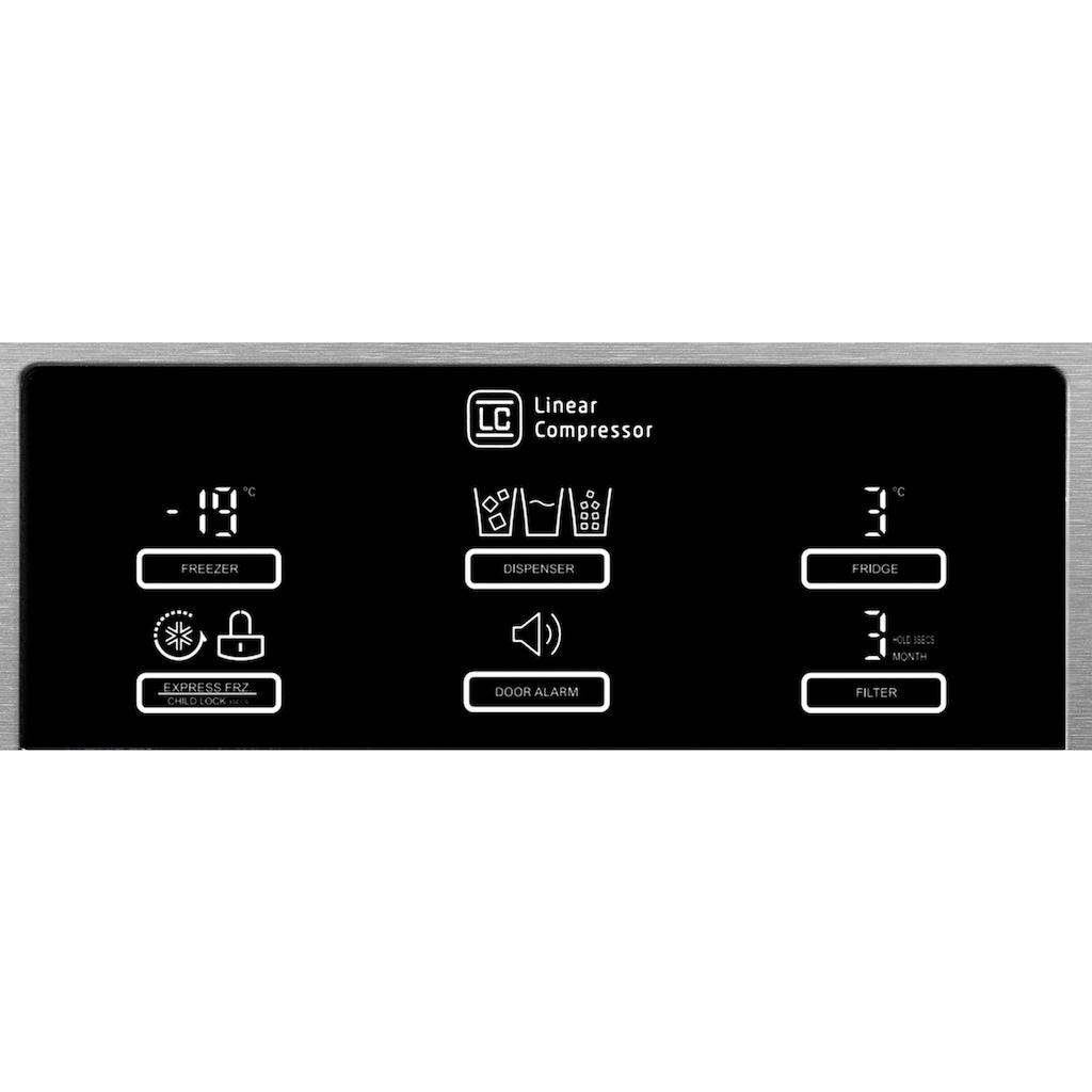 LG Side-by-Side, GSL360ICEZ, 179 cm hoch, 91,2 cm breit