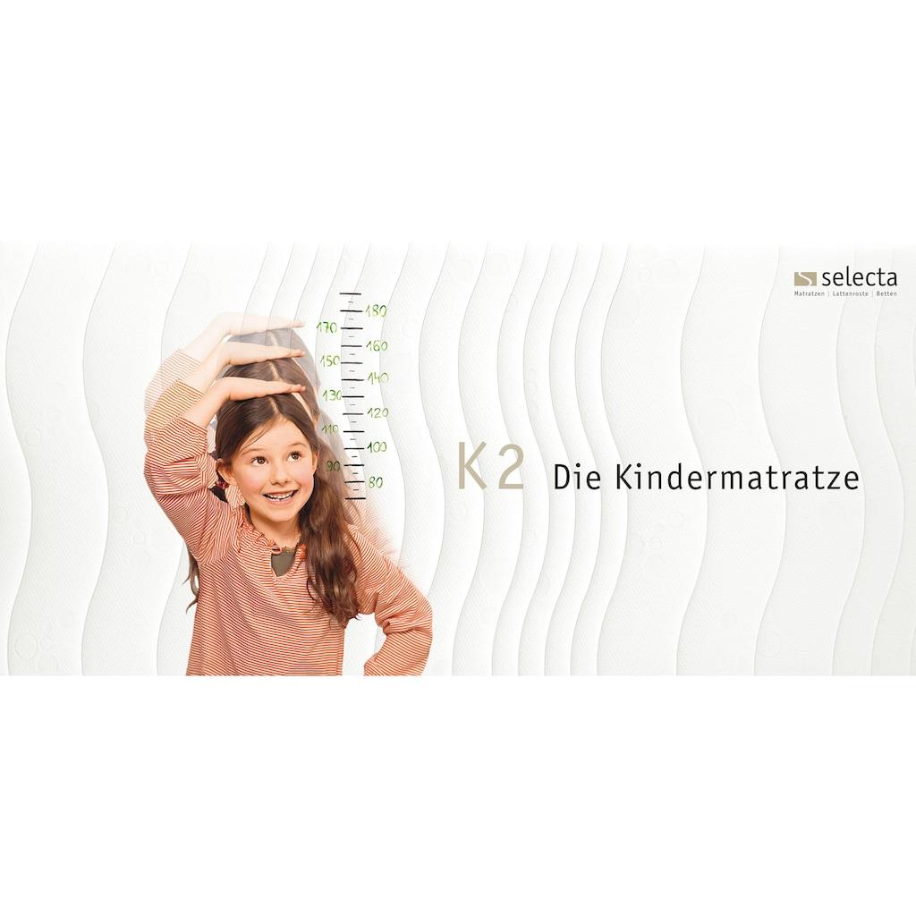 Selecta Kindermatratze »Selecta K2 - die Matratze die mitwächst - 2 in 1«, 15 cm cm hoch, Raumgewicht: 40 kg/m³, (1 St.), Wendetopper mit zwei unterschiedlich festen Liegeseiten