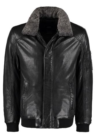 DNR Jackets Lederjacke, mit Kontrastfutter und Reißverschluss kaufen