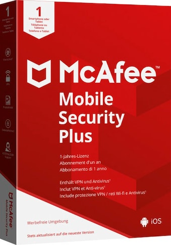 McAfee Virensoftware »McAfee Mobile Security Plus Android/iOS - 1 Jahr«, in a Box kaufen