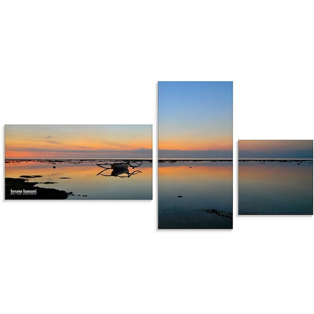 Artland Wandbild »Abendstimmung«, Sonnenaufgang & -untergang, (3 St.), in vielen Größen & Produktarten - Alubild / Outdoorbild für den Außenbereich, Leinwandbild, Poster, Wandaufkleber / Wandtattoo auch für Badezimmer geeignet