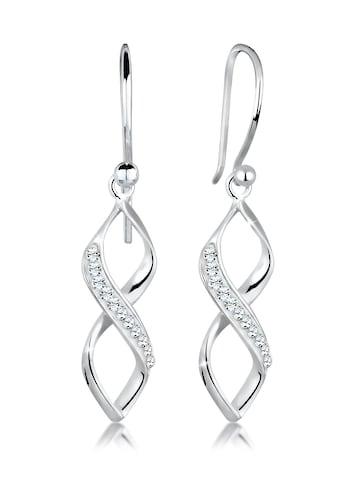 Elli Paar Ohrhänger »Infinity Kristalle Spirale Silber« kaufen