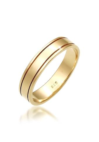 Elli Partnerring »Paarring Bandring Trauring Hochzeit Ehe 925 Silber« kaufen