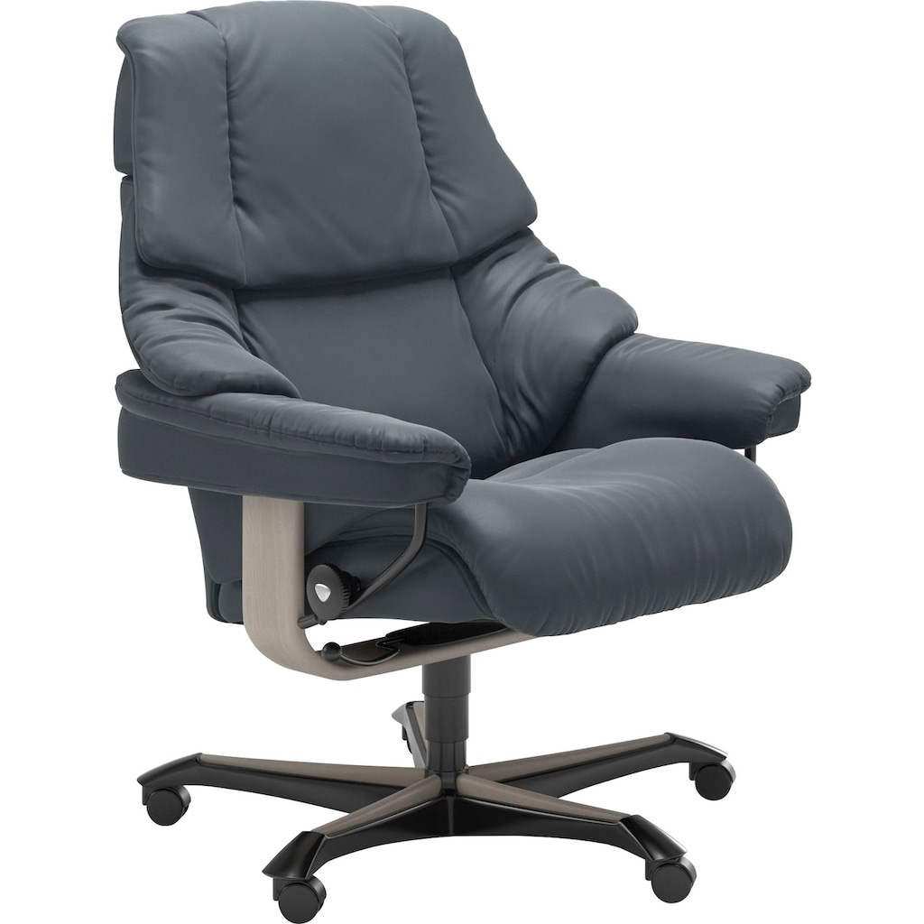 Stressless® Relaxsessel »Reno«, mit Home Office Base, Größe M, Gestell Whitewash