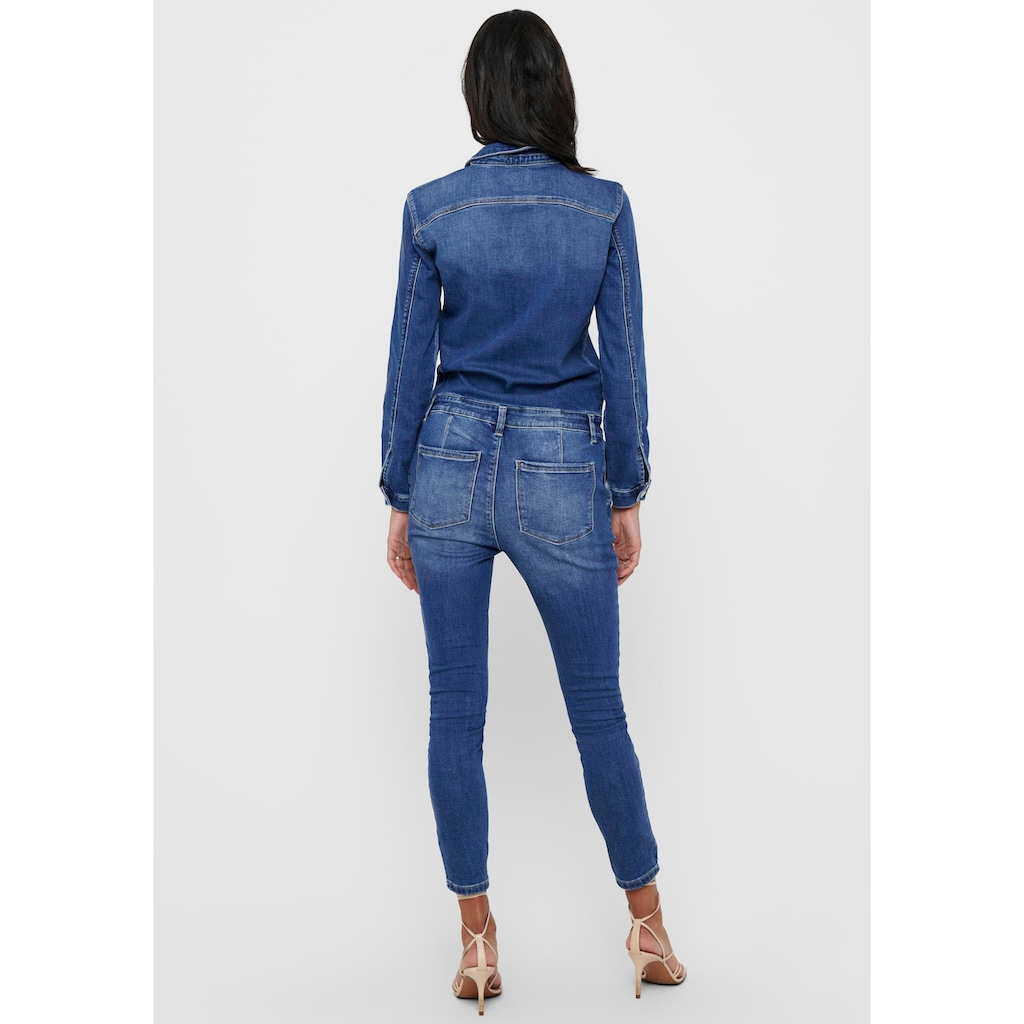 Only Jumpsuit »ONLCALLI«, in leichter Used Optik