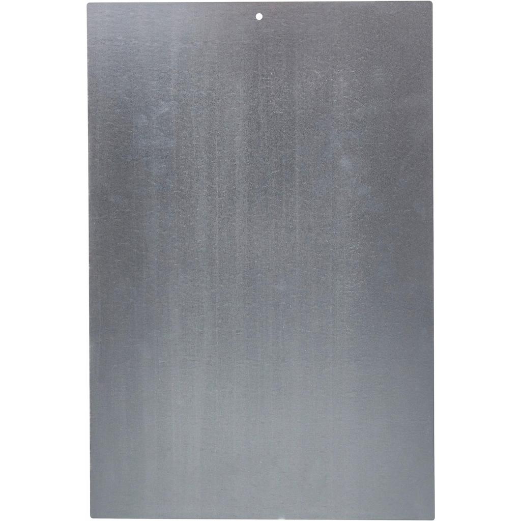 Home affaire Metallbild »Wake up and …«, Maße (B/H): ca. 30/45 cm