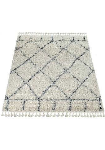 Paco Home Hochflor-Teppich »Nador 755«, rechteckig, 55 mm Höhe, Hochflor-Shaggy mit... kaufen