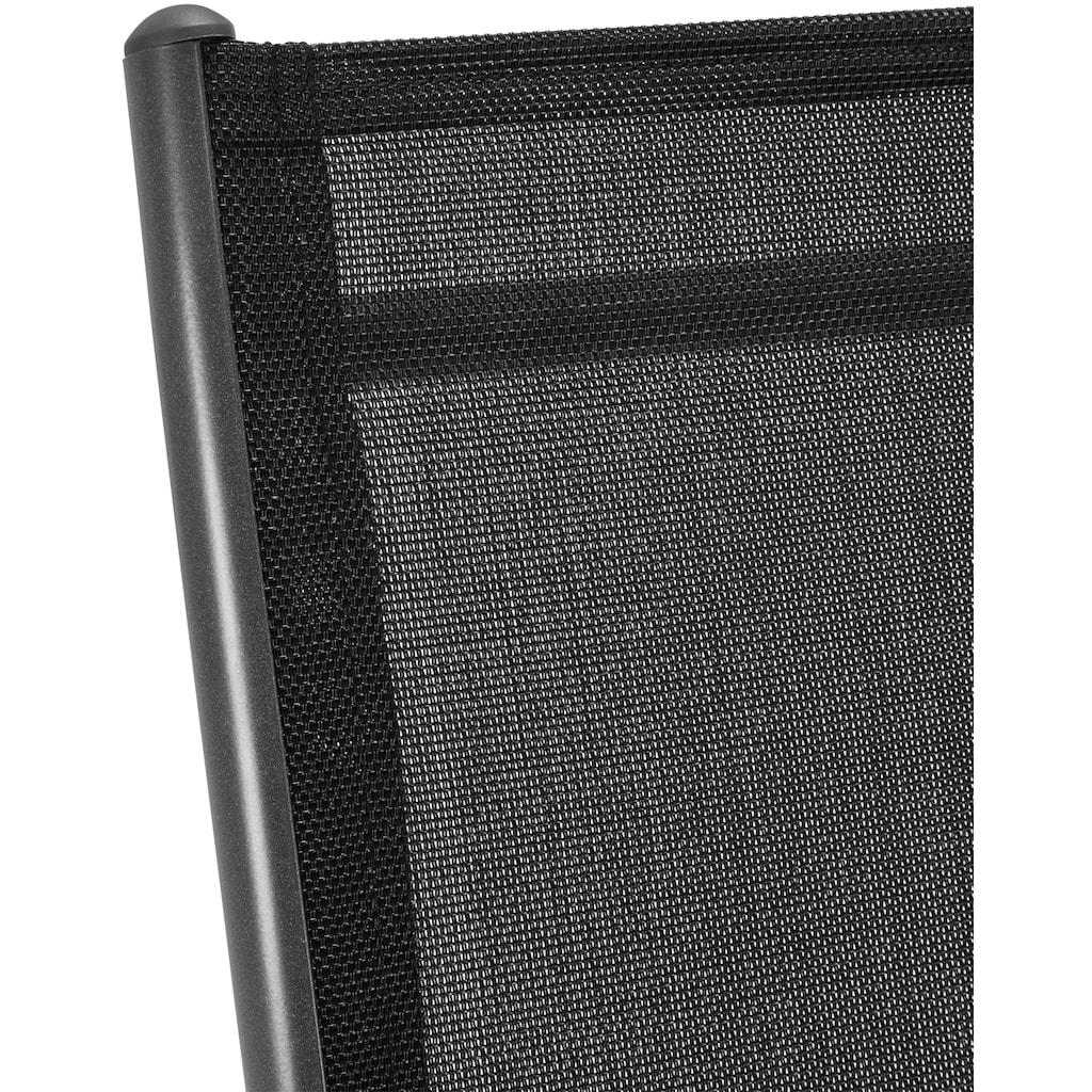 KONIFERA Gartenstuhl »Oslo«, 2er Set, Alu/Textil, verstellbar, inkl. Wendeauflage