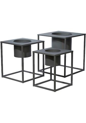 COUCH♥ Übertopf, (Set, 3 St.), Pflanzkübel lackiertes Metall, COUCH Lieblingsstücke kaufen