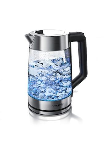 Arendo Glas Edelstahl Wasserkocher mit LED Innenbeleuchtung kaufen