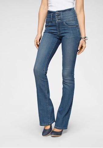 Arizona Bootcut-Jeans »mit extrabreitem Bund«, High Waist kaufen