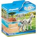 Playmobil® Konstruktions-Spielset »2 Zebras mit Baby (70356), Family Fun«, Made in Europe