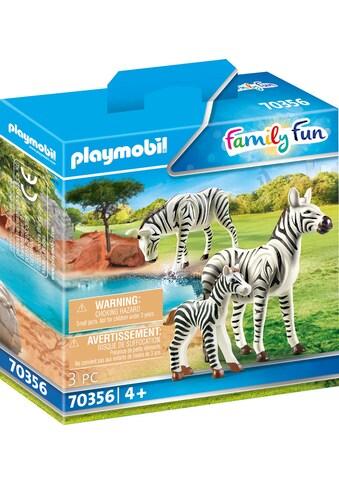 "Playmobil® Konstruktions - Spielset ""2 Zebras mit Baby (70356), Family Fun"", Kunststoff kaufen"