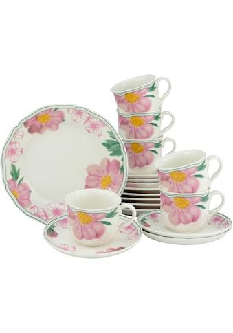 CreaTable Kaffeeservice »Rose«, (Set, 18 tlg.), Premium-Porzellan kaufen