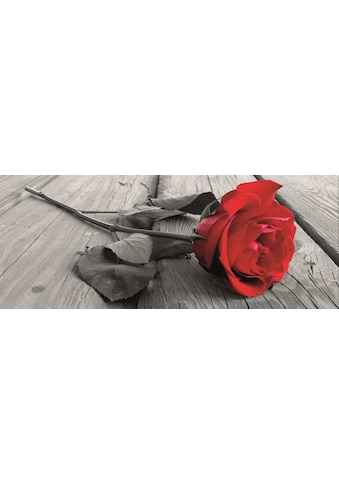 Home affaire Leinwandbild »Rose on the wooden floor«, 160/55 cm kaufen