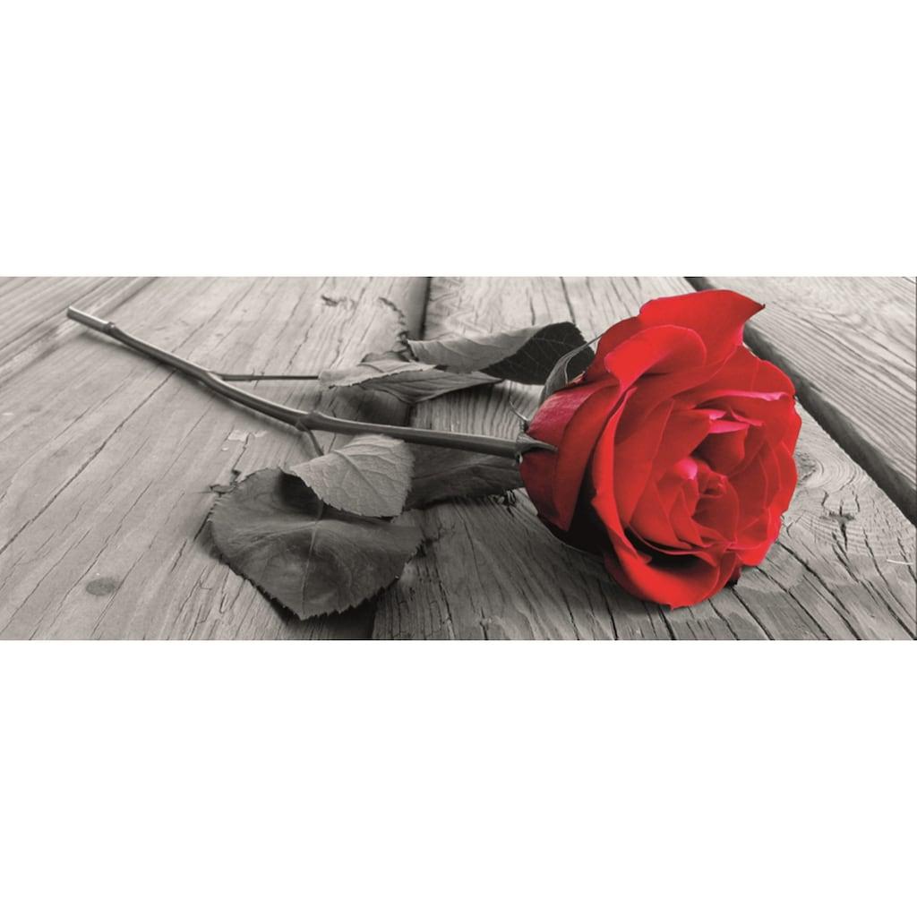 Home affaire Leinwandbild »Rose on the wooden floor«, 160/55 cm