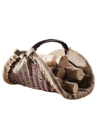 Kaminholzkorb, aus Vollweide kaufen