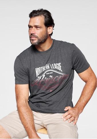 Arizona T-Shirt, mit zweifarbigem used Print kaufen