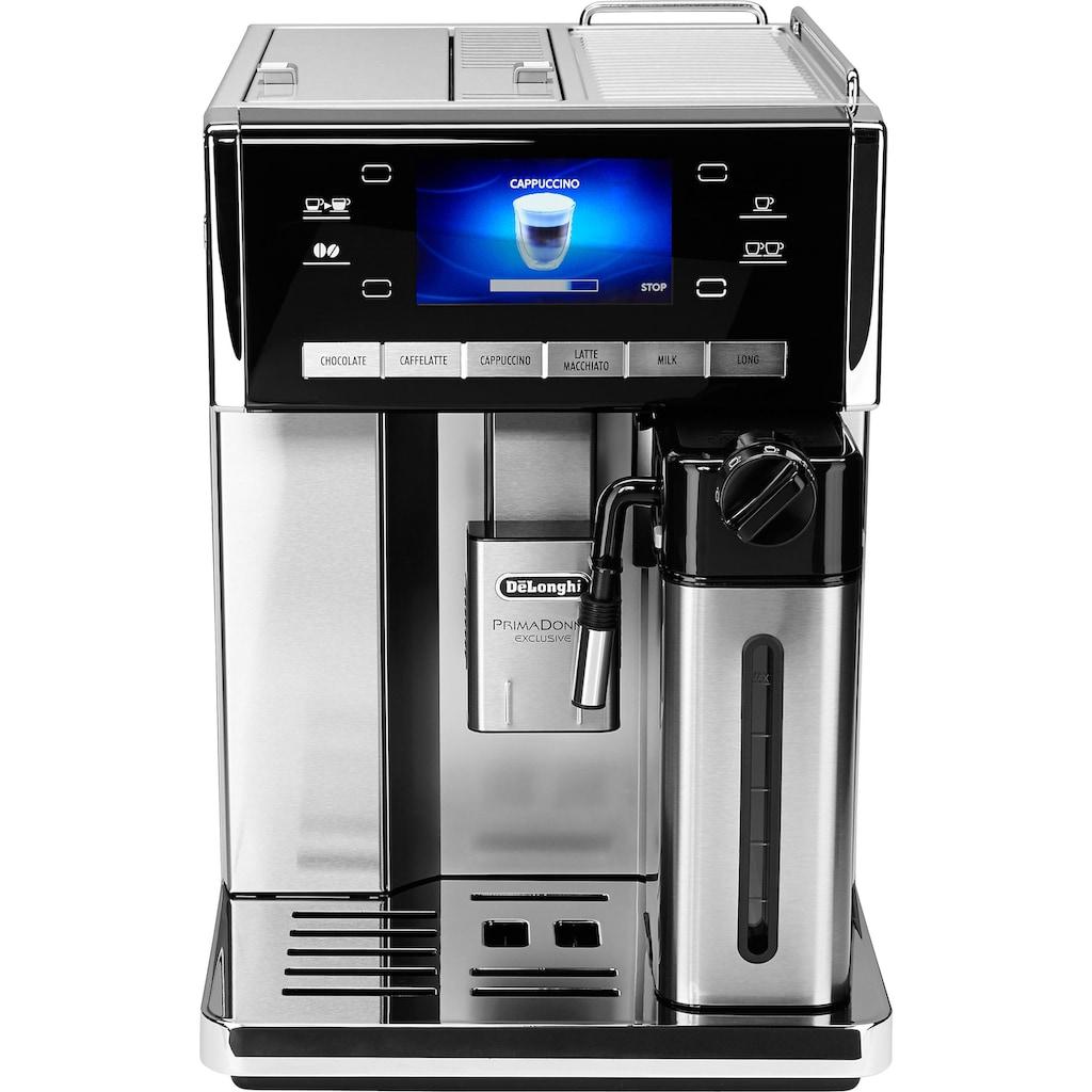 De'Longhi Kaffeevollautomat PrimaDonna Exclusive ESAM 6900.M, 1,4l Tank, Kegelmahlwerk